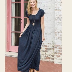 Deep water maxi dress